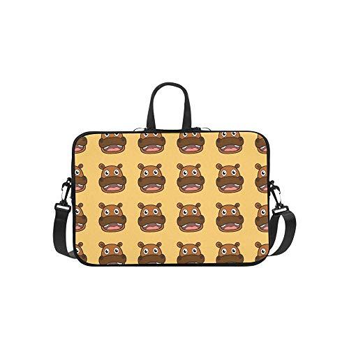 Niedliche Cartoon Hippopotamus Muster Aktentasche Laptoptasche Messenger Schulter Arbeitstasche Crossbody Handtasche Für Geschäftsreisen -