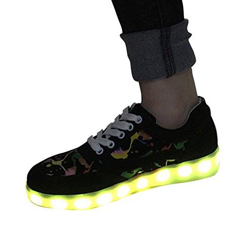 Moollyfox Unisexe LED 7 Changement De Couleur Sneakers Comme image