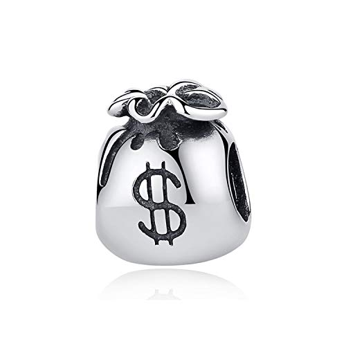 CNSP Authentic 925 Sterling Silver Charm Beads Love to Travel Theme Charms Fit Original Bracelets Women DIY Jewelry Money Bag -