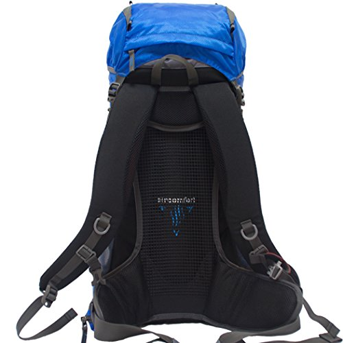 wnnideo Abfalltonne interne Rahmen Rucksack Wasserdicht Wandern Rucksack Wanderrucksack Trekking Tasche für Klettern, Camping Wandern, Bergsteigen, Reisen und (pn-09601) Blau