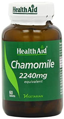 HealthAid Chamomile 2240mg 60 Vegetarian Tablets from HealthAid