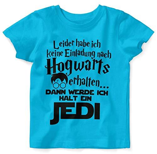 Mikalino Baby/Kinder T-Shirt mit Spruch für Jungen Mädchen Unisex Kurzarm Leider Habe ich Keine Einladung nach Hogwarts erhalten.   handbedruckt in Deutschland, Farbe:Atoll, Grösse:80/86 (Einladung Sprüche Halloween-geburtstag)