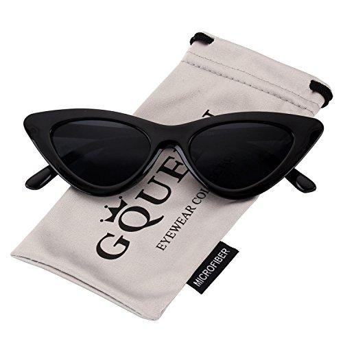 GQUEEN Clout Brille Vintage Cat Eye Sonnenbrille Mod Style UV-Schutz Kurt Cobain Gläser,GQZ7