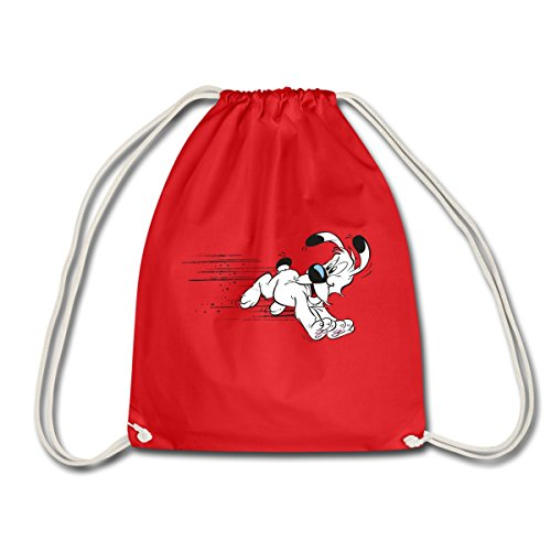 asterix-obelix-chien-idefix-court-sac-de-sport-leger-de-spreadshirtr-rouge