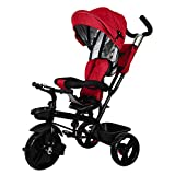 #6: Little Olive Roller Coaster Baby Tricycle with Canopy and Push Handle (Red)