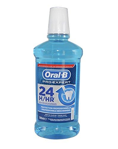 Mundwasser Professionelle (Oral-B Pro-Expert Mundspülung Mundwasser Multi Schutz 500ml für professionele Schutz ohne Alkohol / frische Minze)