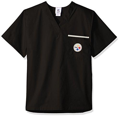 Scrub Dudz NFL Solid Scrub Top, Damen, schwarz, Small