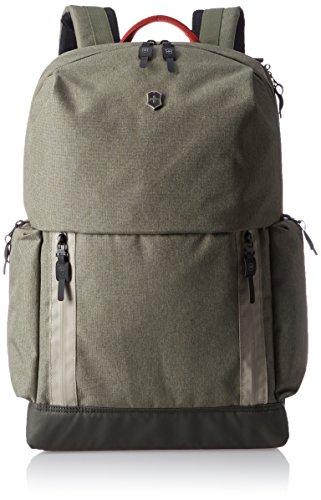 Victorinox Deluxe Laptop Backpack Poliéster Oliva mochila - Mochila para portátiles y netbooks (Poliéster, Oliva, Monótono, Unisex, 330 mm, 160 mm)