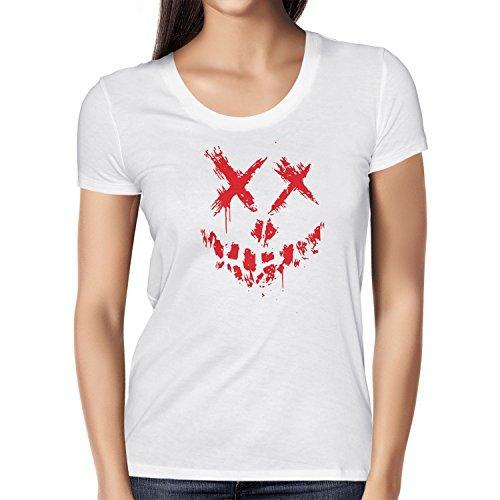 Texlab Suicide Crew - Damen T-Shirt, Größe XL, Weiß