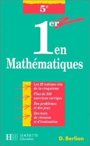 1er en mathématiques, 5e