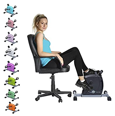 GymMate - Turns any chair into an exercise bike - Premium Quality Magnetic Mini Exerciser - Silky smooth, quiet impact free resistance excellent for home, office or therapeutic use and a great alternative to cumbersome upright bikes. Work out both legs an