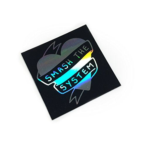 smash-the-system-rainbow-foiled-fridge-magnet