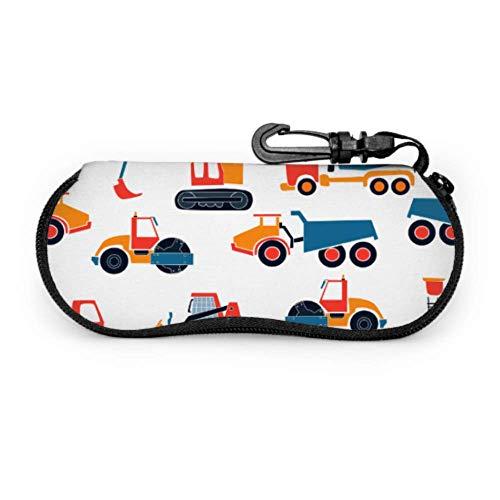 Spielzeug Traktor Kind Retro Kreative Kunst Malerei Cartoon Animation Weiche Brillenetuis Für Frauen Frauen Brillenetui Licht Tragbare Neopren Reißverschluss Weichen Fall Bunte Brillenetui