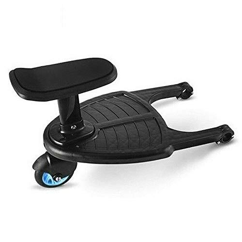 Mini Buggy Board mit Sitz, Stehbrett, Fnova Sitz abnehmbar und montierbar, ideal für kleinere Kinderwagen (enthält Bedienungsanleitungen)