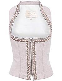 Krüger Collection Damen Trachten-Mode Trachtenmieder Kettl in Rose traditionell