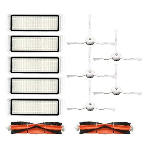 WOB Kehrroboter Zubehör für Xiaomi 1S/Roborock T65 S6 Kehrer, Roboter-Staubsauger Ersatzteile Ersatzteilset für Staubsauger Kehrmaschine Enthält Rollbürste/Filter/Seitenbürste (Kombination G)