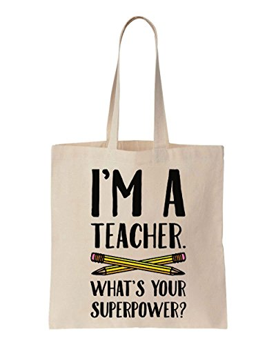 im-a-teacher-whats-your-superpower-sacchetto-di-cotone-tela-di-canapa