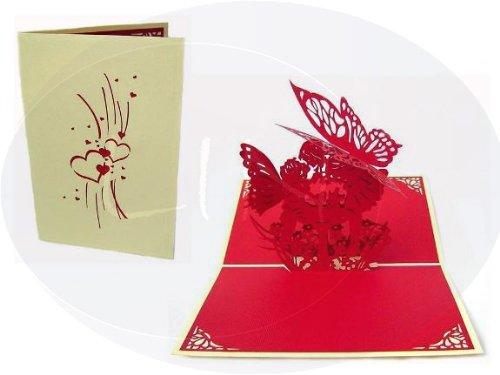 Pop Up Card-wedding Amour embrassant elfes sur la prairie Crème