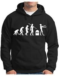 Touchlines Herren Kapuzenpullover Evolution Zombies Sweatshirt