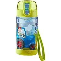 HABA 302846 - Glitzertrinkflasche Traktor, Kinder-Trinkflasche für Traktor-Fans, für Kindergarten oder Schule, 250ml Flasche, BPA-frei, spülmaschinenfest, auslaufsicher mit Drehverschluss preisvergleich bei kleinkindspielzeugpreise.eu