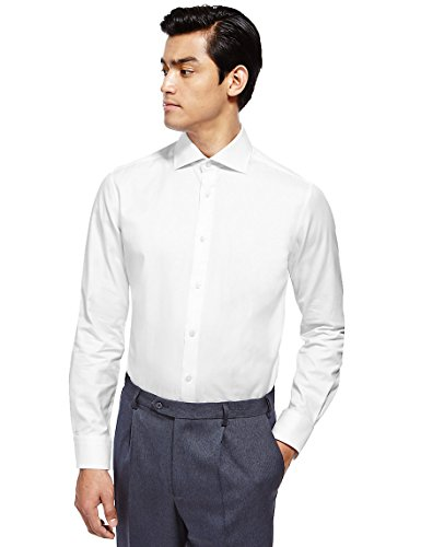 marks-and-spencer-camisa-formal-para-hombre-blanco-blanco-155-neck