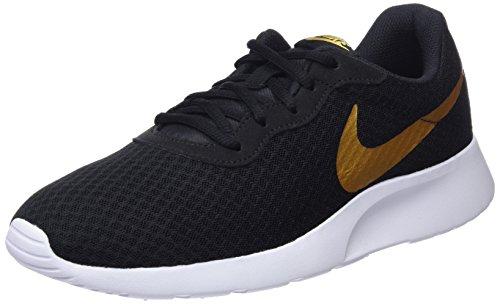 Nike Damen Tanjun Traillaufschuhe, Schwarz (Black/Metallic Gold 004), 39 EU (Schwarze Und Turnschuhe Gold)