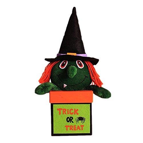 Geschenk Süßigkeiten Boxen Deko Halloween Vorratsglas Vorratsdose Leckereien, Kuchen, Keksen, Leckereien, Candy für Weihnachten, Geburtstage 9 * 18cm