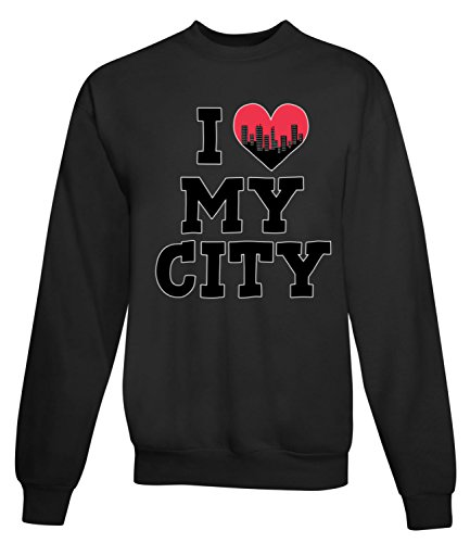 Billion Group | In Love With | City Collection | Women's Unisex Sweatshirt Nero Medium