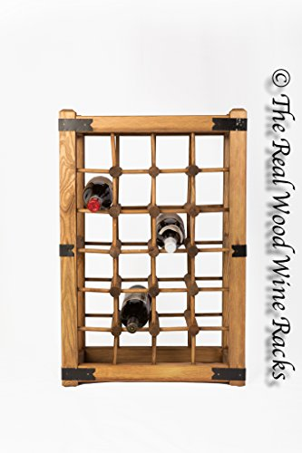New Real Wooden Rustic Wine Rack / Cabinet, 24 Bottles with Table Top, Kitchen / Bar by The Real Wood Wine Racks -