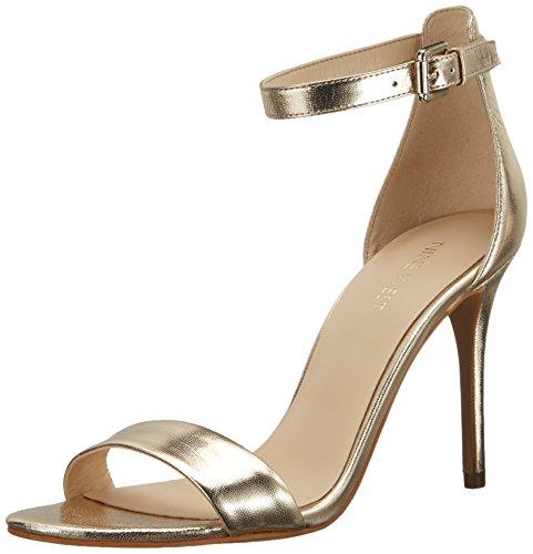Nine West Mana metallo con tacco del sandalo Light Gold