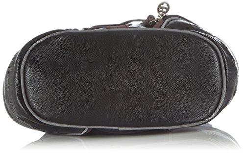 Poodlebag WIEN 3GC0814WIENB Damen Schultertaschen 26x13x31 cm (B x H x T) Mehrfarbig (black)