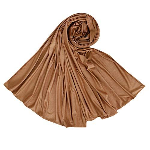 Lazzboy Frauen Ethnischen Abaya Islamischen Muslimischen Nahen Osten Solide Hijab Wrap Schal Kopfbedeckungen Baumwolle Lange Arabischen Headwear Großhandel(L)