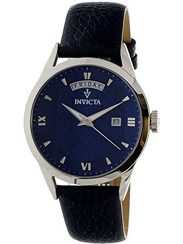 n-Armbanduhr Armband Leder Gehäuse Edelstahl Quarz 25712 ()