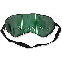 Sleep Eye Mask Pulse Green Lightweight Soft Blindfold Adjustable Head Strap Eyeshade Travel Eyepatch preisvergleich bei billige-tabletten.eu