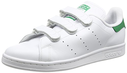 adidas Stan Smith Cf, Baskets Basses Homme, Blanc (Ftwr White/Ftwr White/Green), 40 EU