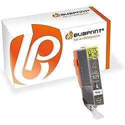 Bubprint Druckerpatrone kompatibel für Canon CLI-521GY CLI 521GY für Pixma MP980 MP990 Grau