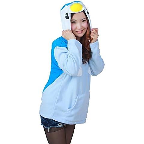 Rhh Unisex Animale Con Cappuccio Costume Cosplay Tasche Laterali Zip