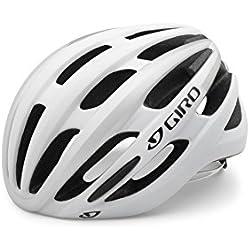 Giro Foray - Casco de ciclismo unisex, color blanco/plateado (matte white/silver), 55 - 59 cm
