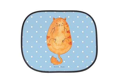 Mr. & Mrs. Panda Auto Sonnenschutz Katze Frühaufsteher - 100% handmade in Norddeutschland - Rücksitz, Der frühe Vogel kann mich mal, Kunstfaser, Sonnenschutz, Kater, Frühaufsteher, Sonnenblende, Mietze, Auto, Kaffee, Familie, Kinder