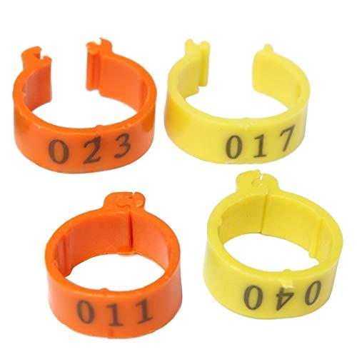 100Pcs 001-100 numerado bandas pierna 18mm anillos