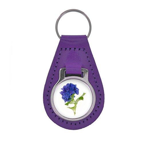 Hortensie Bild Schlüsselring Geschenkverpackung - bunt Leder - Lila, One - Lila Hydrangea-bilder