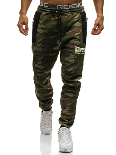 BOLF Herren Sweatpants Sporthose CRWS DNM 3781A Mehrfarbig XL [6F6]