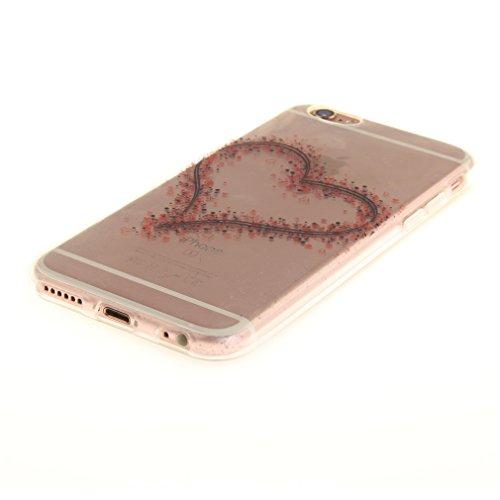 A9H iPhone 6/6S 4.7 Hülle mit Kameraschutz transparent dünne Schutzhülle Case Cover für iPhone 6/6S aus flexiblem TPU -27HUA 01HUA