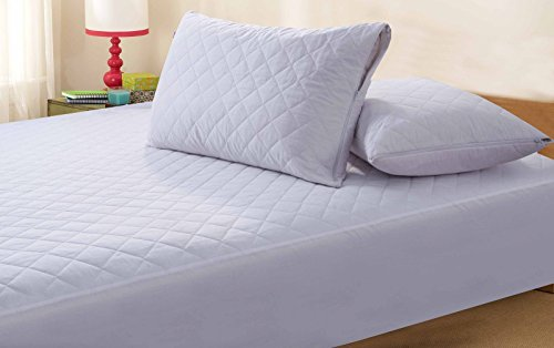 Zipped Quilted Pillow Protector Anti Allergy - Pair by Highliving ®