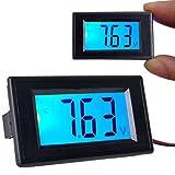 Ecloud Shop Digital Panel-Meter Voltmeter Spannungsmesser LCD Blau