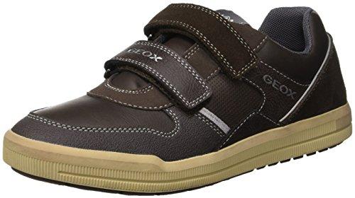 Geox Jungen J Arzach Boy C Sneaker, Braun (Brown/Dk Grey C0945), 33 EU (Leder Dk Schuhe Kinder Brown)