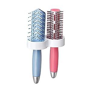 iDesign 21031EU Affixx Dual Haarbürstenhalter, weiß
