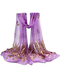 Internet Femmes Wrap doux longue écharpe Mesdames châle mousseline de soie foulards  Motif de fleurs 160 7b6982600b1