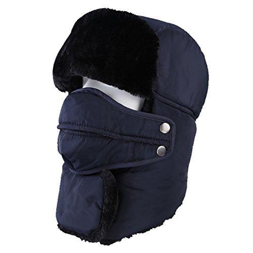 Topnaca Gorro Unisex cálido, Incluye máscara y Cuello,Estilo Ruso, Ideal para el frío Invierno, Reflectante, Impermeable, térmico, cálido, Apto para Nieve, esquí, Caza y Senderismo …