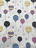 Luftballons Baumwolle Jersey UV Farbveränderndes Licht